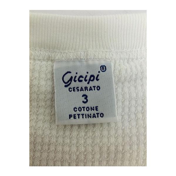 gicipi(ジチピ)(Italy) CANOVACCIO GIRO  M/L サーマル素材クルーネック長袖 イタリア製 BIANCO ホワイト|gaku-shop|04