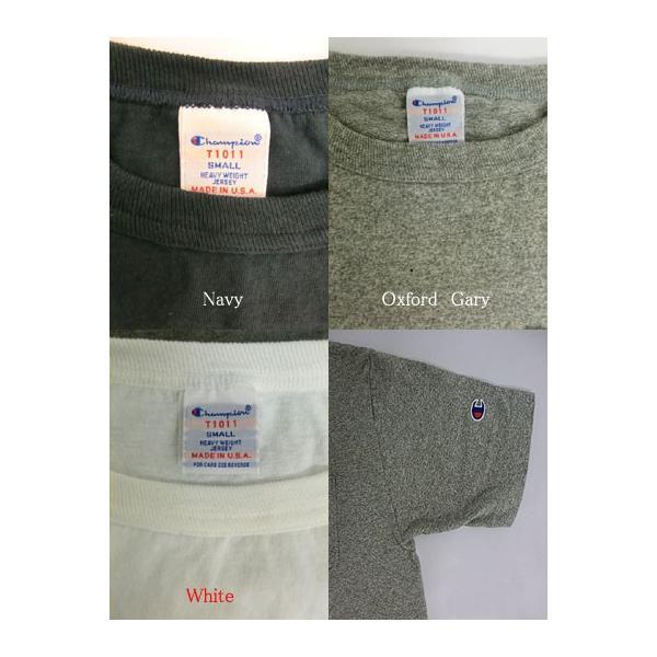 Champion チャンピオン 正規品 T-1011 ポケット付きTシャツ ティーテンイレブンUSA製  ホワイト ネイビー グレー gaku-shop 05