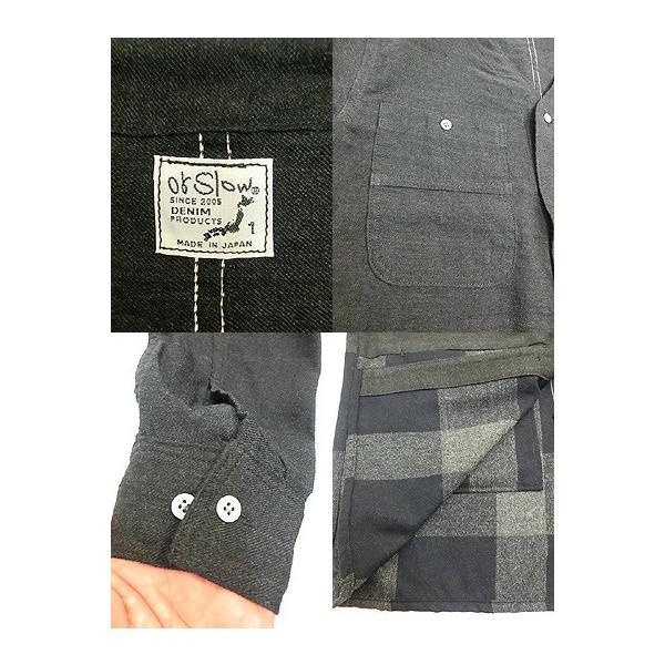 orslow (オアスロウ) 03-8039-WL60 NO COLLOR COVER ALL カバーオールコート LINEN WOOL Gray gaku-shop 03