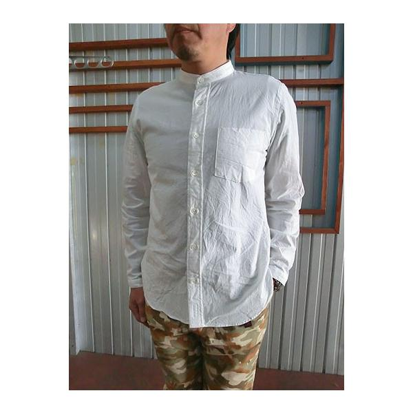 MANUAL ALPHABET マニュアルアルファベット マニュアルアルファベット MAS306 シャンブレー素材 チェンジカラーシャツ White|gaku-shop