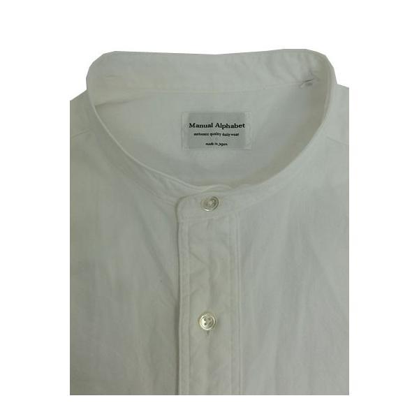 MANUAL ALPHABET マニュアルアルファベット マニュアルアルファベット MAS306 シャンブレー素材 チェンジカラーシャツ White|gaku-shop|03