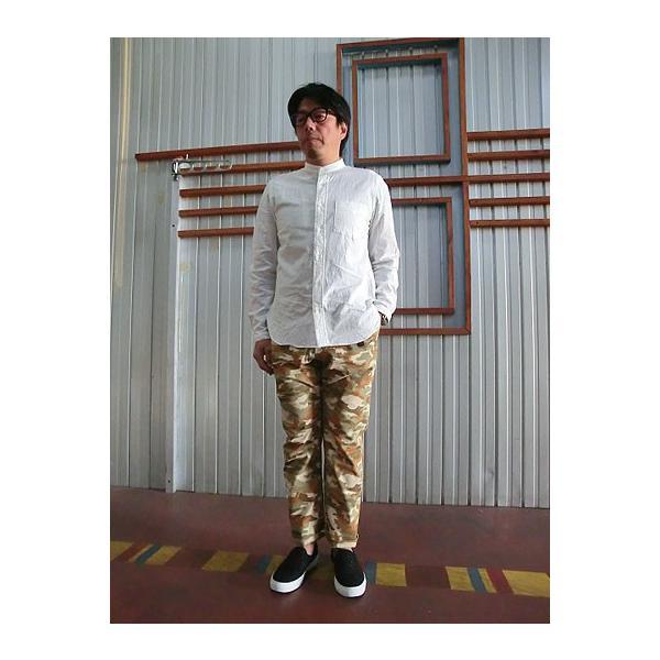 MANUAL ALPHABET マニュアルアルファベット マニュアルアルファベット MAS306 シャンブレー素材 チェンジカラーシャツ White|gaku-shop|06