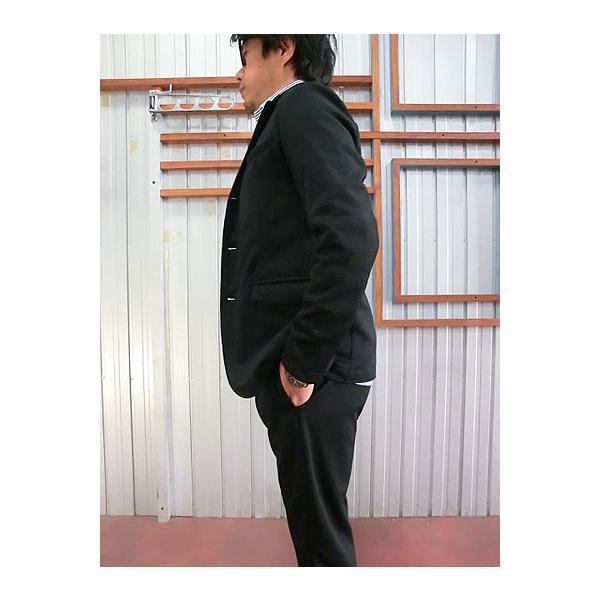 Jackman ジャックマン Jackman ジャックマン JM7930 Jersey Jacket ジャージー3つ釦ジャケット Black|gaku-shop|03