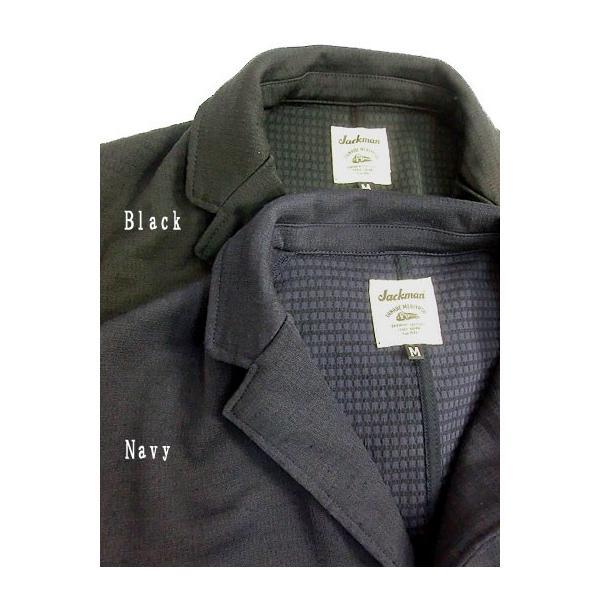 Jackman ジャックマン Jackman ジャックマン JM7930 Jersey Jacket ジャージー3つ釦ジャケット Black|gaku-shop|06