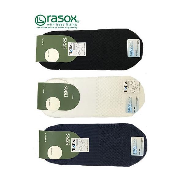 rasoxRASOXRASOXラソックスSP191CO01スポーツパイルカバーソックスホワイトネイビーブラック