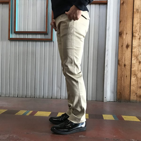 STUDIO ORIBE(スタジオオリベ) L POCKET PANTS LP01 オン、オフで活躍 Lポケットストレート ストレッチ素材パンツ BEIGE ベージュ|gaku-shop|02