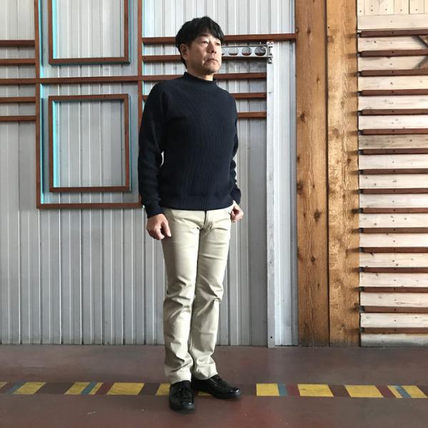 STUDIO ORIBE(スタジオオリベ) L POCKET PANTS LP01 オン、オフで活躍 Lポケットストレート ストレッチ素材パンツ BEIGE ベージュ|gaku-shop|03