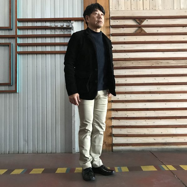 STUDIO ORIBE(スタジオオリベ) L POCKET PANTS LP01 オン、オフで活躍 Lポケットストレート ストレッチ素材パンツ BEIGE ベージュ|gaku-shop|04
