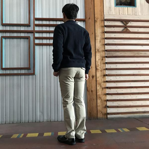 STUDIO ORIBE(スタジオオリベ) L POCKET PANTS LP01 オン、オフで活躍 Lポケットストレート ストレッチ素材パンツ BEIGE ベージュ|gaku-shop|06