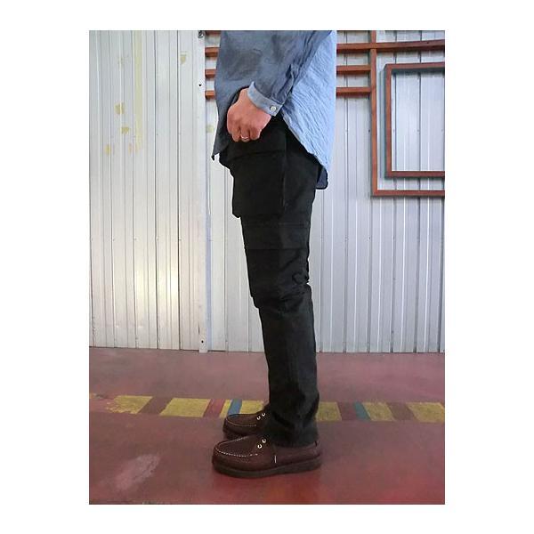 STUDIO ORIBE(スタジオオリベ) EP05 細身でスタイリッシュに穿ける 8ポケットカーゴパンツ ダークブラウン |gaku-shop|02