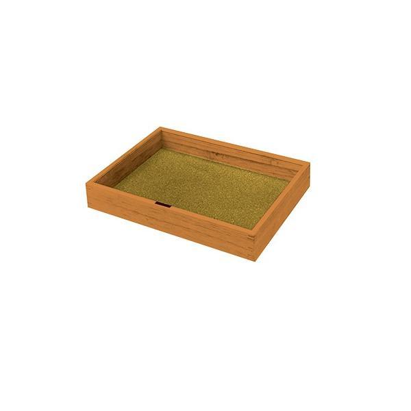 【桐製・コルク底・ガラスふた付】昆虫標本箱  大きさ:400×300×60mm 重さ:1kg