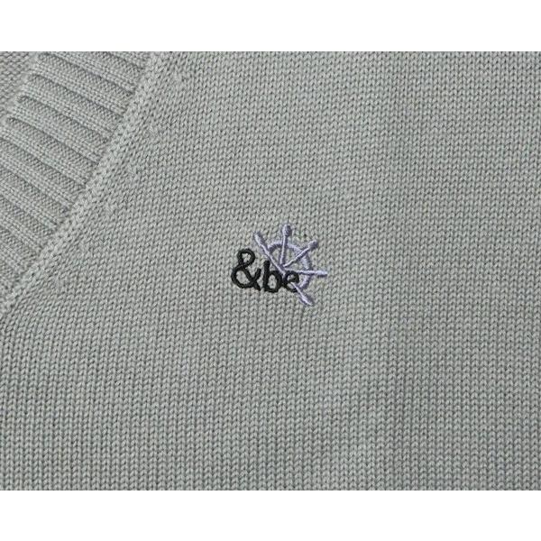 スクールセーター 綿混 8ゲージ Vネック 紺/グレー 男子/女子 春/秋/冬 ウォッシャブル 毛玉ができにくい トンボ学生服 &be(アンビー)|gakuseihuku|05