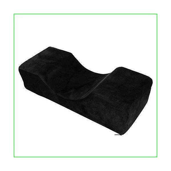 Eyelash Extension Pillow, Beauty Salon Grafting Eyelash Pillow Flannel Sponge PU Leather Eyelash Grafting U-shaped Neck Pillow Support Prote
