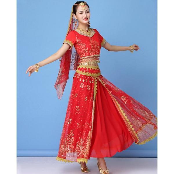 ベリーダンス衣装 インドダンス 演出服 組み合わせ自由 ヒップスカーフ 4色 半袖 舞台 発表会 コスチューム hy0074(hy0074) galaxy88 04