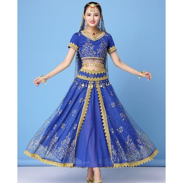 ベリーダンス衣装 インドダンス 演出服 組み合わせ自由 ヒップスカーフ 4色 半袖 舞台 発表会 コスチューム hy0074(hy0074) galaxy88 06
