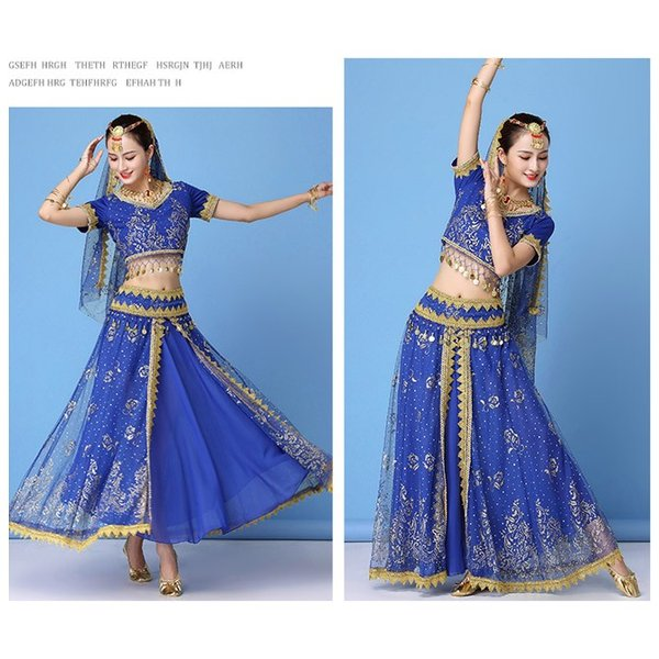 ベリーダンス衣装 インドダンス 演出服 組み合わせ自由 ヒップスカーフ 4色 半袖 舞台 発表会 コスチューム hy0074(hy0074) galaxy88 07