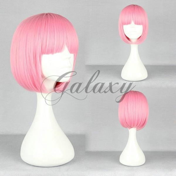 原宿ガール ボボヘアー ロリータ ピンク ショート コスプレウィッグ  wig-393a(wig-393a)