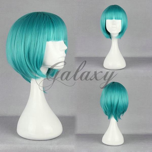 原宿ガール ボボヘアー ロリータ グリーン ショート コスプレウィッグ  wig-394a(wig-394a)