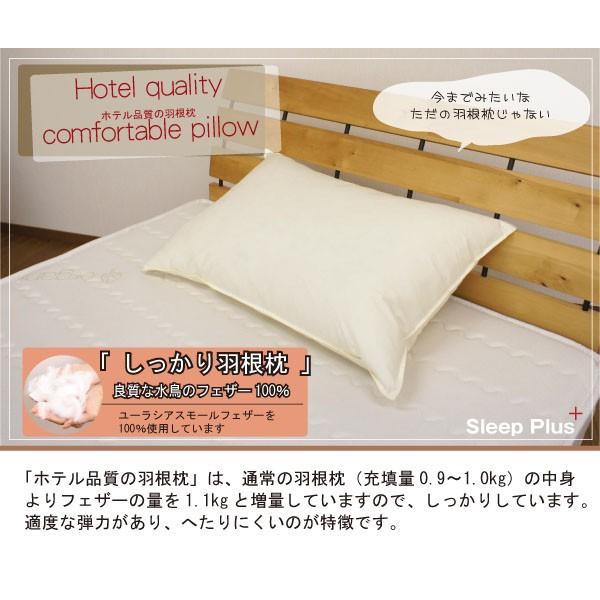 Newホテル品質の羽根枕(増量タイプ)羽根まくらはねまくら羽枕フェザーピローフェザー枕ホテル枕