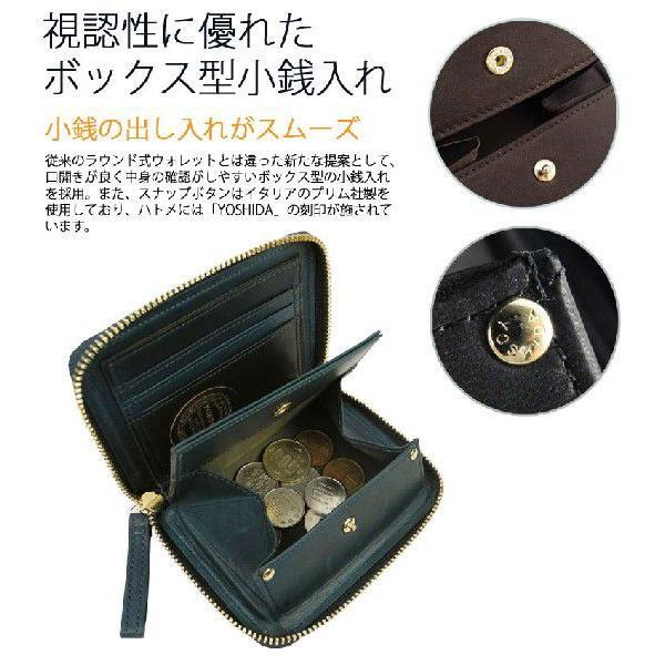 吉田カバン ポーター 財布 二つ折り財布 メンズ レディース レザー ラウンドジップ ラウンドファスナー WISE ワイズ 341-01319|galleria-onlineshop|05