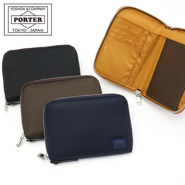 吉田カバン 二つ折り財布 ポーター リフト PORTER LIFT ラウンドファスナー 822-16107 メンズ レディース|galleria-onlineshop
