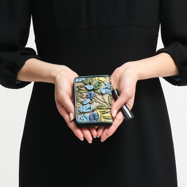 デコブランシェ decobranche パスケース 定期入れ KYOUKA 京香 友禅革 本革 レディース 日本製 d-03-10 galleria-onlineshop 06
