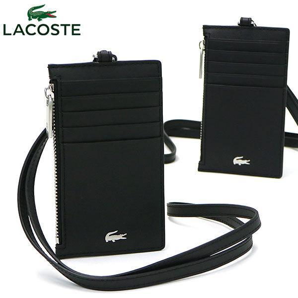 5/9  最大32%獲得ラコステ財布LACOSTEコインケースカードケースFGネックウォレット革レザーメンズ薄型NH3159F