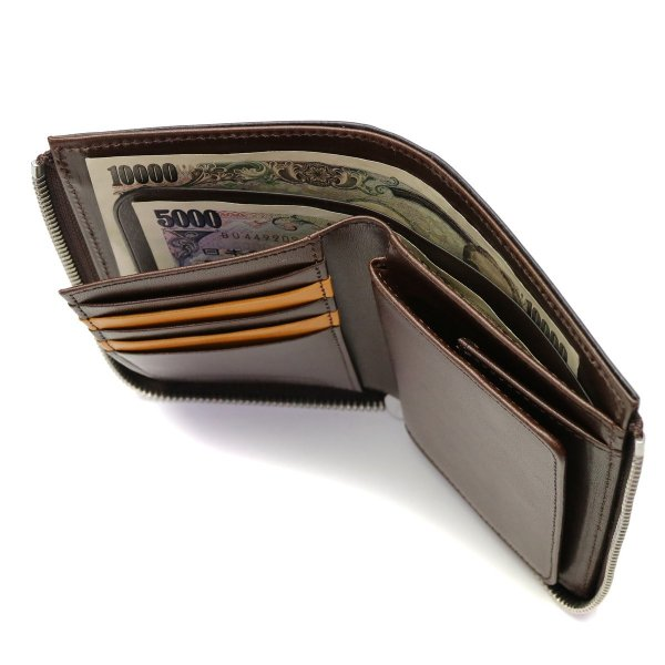 52ec8d03de6d ... スロウ 財布 SLOW 二つ折り財布 BRIDLE L zip short wallet L字ファスナー メンズ SO648G ...
