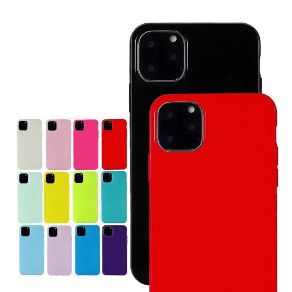スマホケース iPhone 11 11pro 11proMAX XR iphone8 iphone7  耐衝撃 シリコン TPU ケース アイフォン 無地 シンプル ワイヤレス充電 Qi galleries