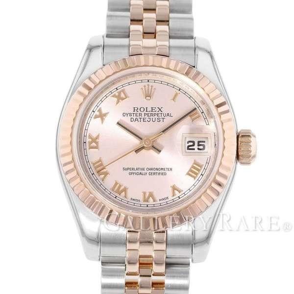 huge selection of 77636 088d7 ロレックス デイトジャスト 26 K18PGピンクゴールド D番 ルーレット 179171 ROLEX 腕時計 レディース ピンク文字盤