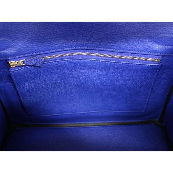 エルメス バーキン30 cm ハンドバッグ ブルーエレクトリック×ゴールド金具 ヴォーエプソン C刻印 バッグ