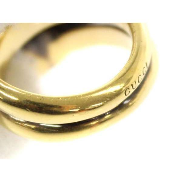 グッチ リング タイガーヘッド 402269 GUCCI 指輪 エナメル メタル スワロフスキー クリスタル ブラック ゴールド サイズ10