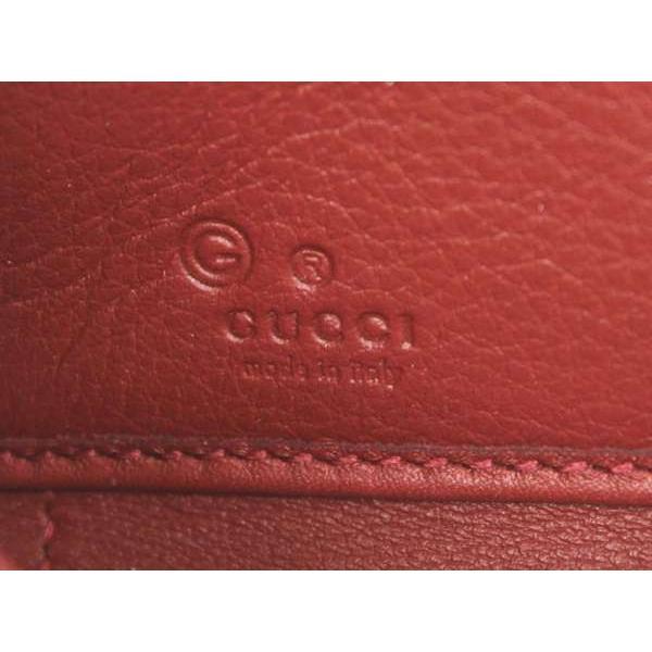 グッチ 長財布 マイクログッチシマ レッド 449391 GUCCI ラウンドファスナー 財布 アウトレット品