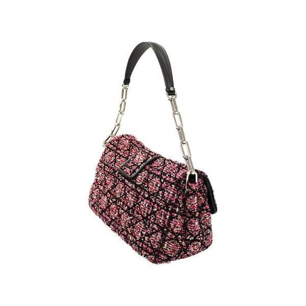 ディオール ショルダーバッグ ミスディオール カナージュ ピンク 黒 ブラック ツイード Christian Dior