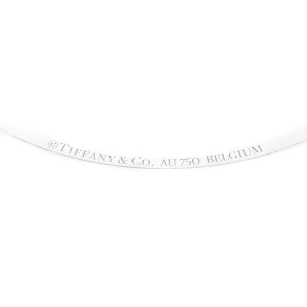 ティファニー ネックレス Tスマイル ペンダント ミニ ダイヤモンド 0.10ct K18WGホワイトゴールド TIFFANY ジュエリー