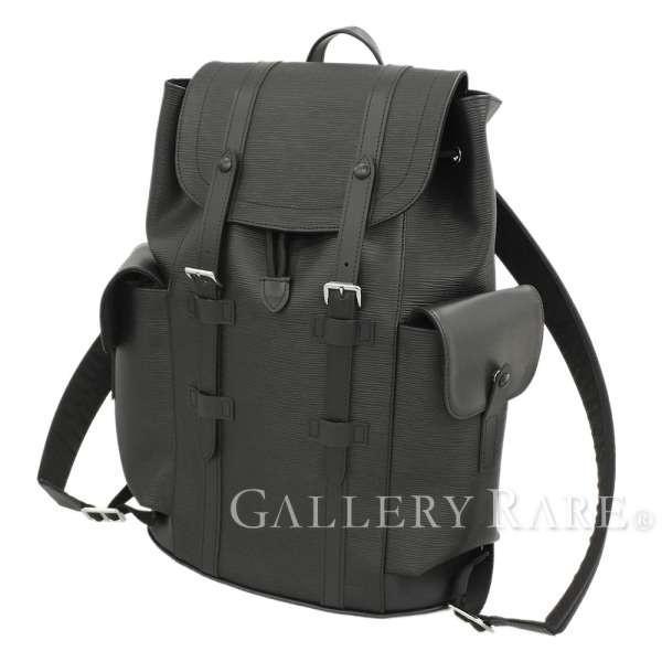 ルイヴィトン リュック エピ クリストファーPM M50159 ノワール LOUIS VUITTON ヴィトン バックパック メンズ 黒|gallery-rare