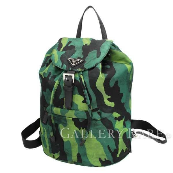 78bf1ec98699 プラダ リュック バックパック ナイロン カモフラージュ 迷彩 BZ0032 PRADA バッグ 巾着の画像