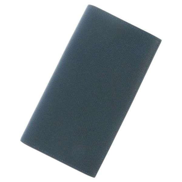 エルメス長財布MC2フレミングコバルトヴォーエプソンT刻印HERMESメンズ二つ折り長財布