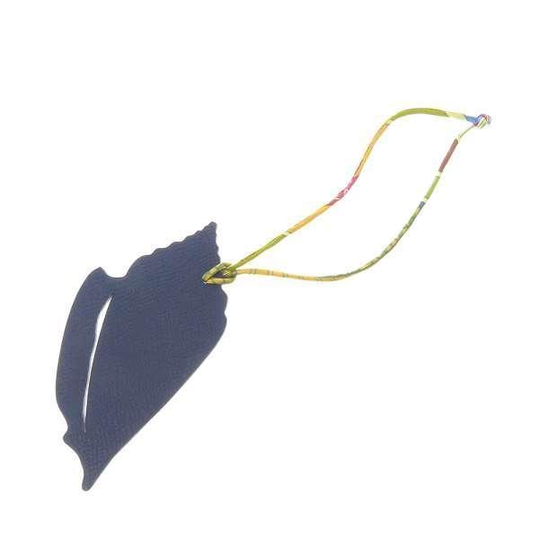 エルメスバッグチャームプティアッシュ貝殻モチーフネイビー/ゴールドヴォーエプソン/トリヨンクレマンス