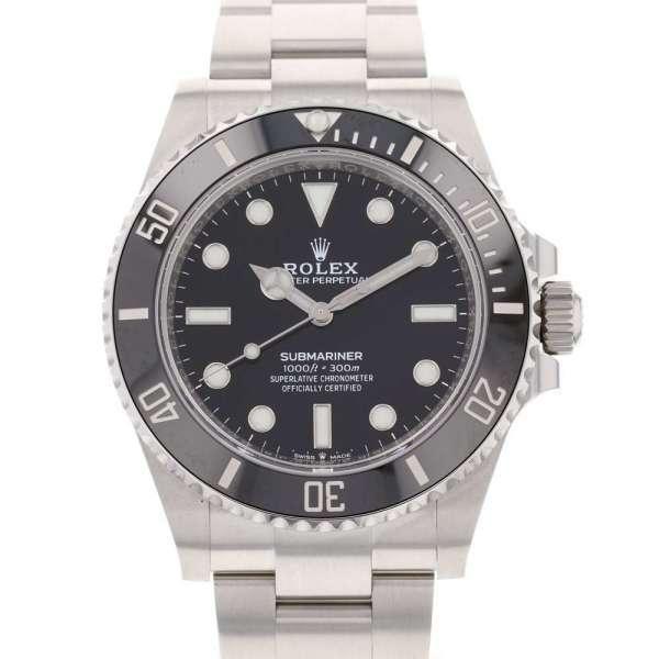 ロレックスサブマリーナノンデイトランダムシリアルルーレット124060ROLEX腕時計黒文字盤2020年