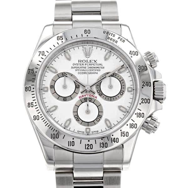 ロレックスコスモグラフデイトナK番116520白文字盤ROLEX腕時計クロノグラフウォッチ安心保証