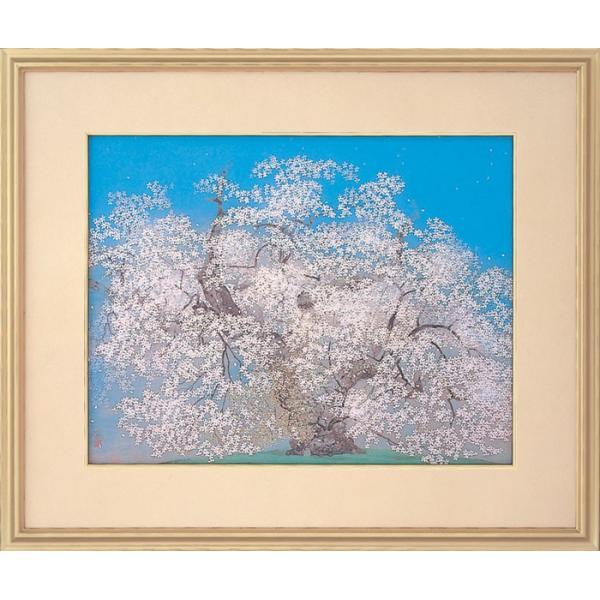 中島千波  『千歳櫻』  岩絵具方式複製日本画 gallery-uchida 01