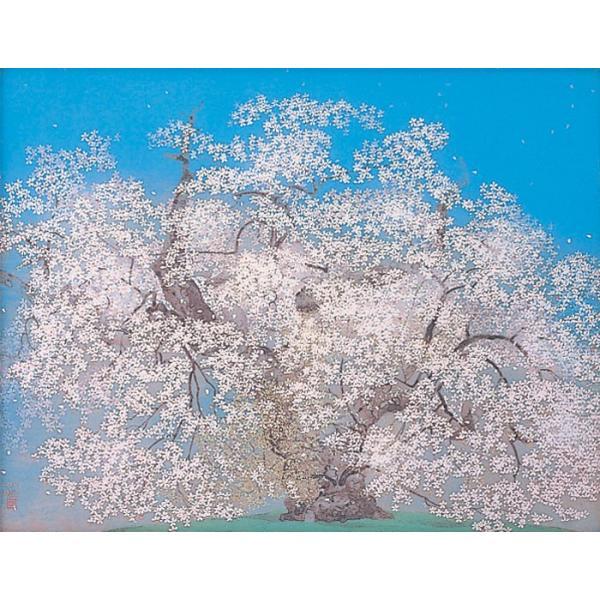 中島千波  『千歳櫻』  岩絵具方式複製日本画 gallery-uchida 02