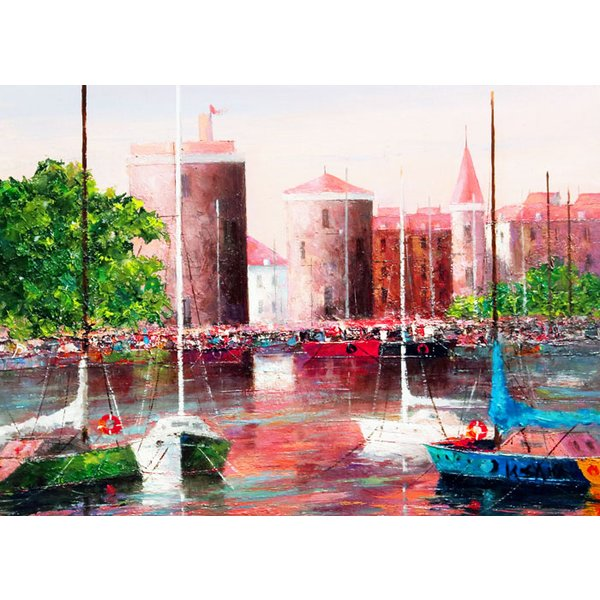 酒井健吉 『ラ・ロシェル港』 油絵 F4(4号)|gallery-uchida|02