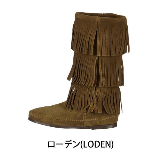 ミネトンカ MINNETONKA モカシン ブーツ フリンジ Calf hi 3-layer fringe boot 3段フリンジ 3レイヤーフリンジブーツ 1635F|gallerymc|02