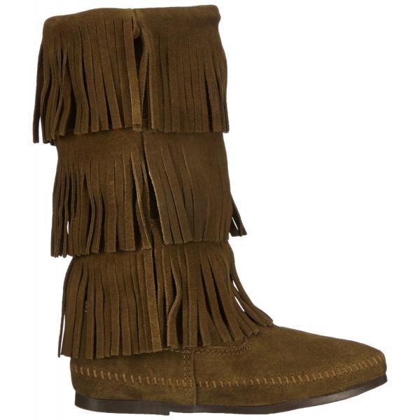 ミネトンカ MINNETONKA モカシン ブーツ フリンジ Calf hi 3-layer fringe boot 3段フリンジ 3レイヤーフリンジブーツ 1635F|gallerymc|04