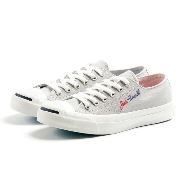 コンバース ジャックパーセル ロゴステッチ RH メンズ レディース ユニセックス ローカット OX スニーカー シューズ 靴 ホワイト グレー|gallerymc|04