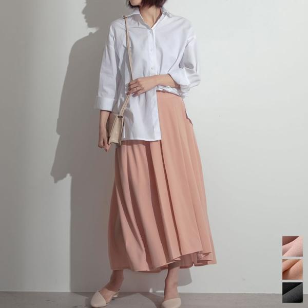 薄手ポンチエンビフレアスカート