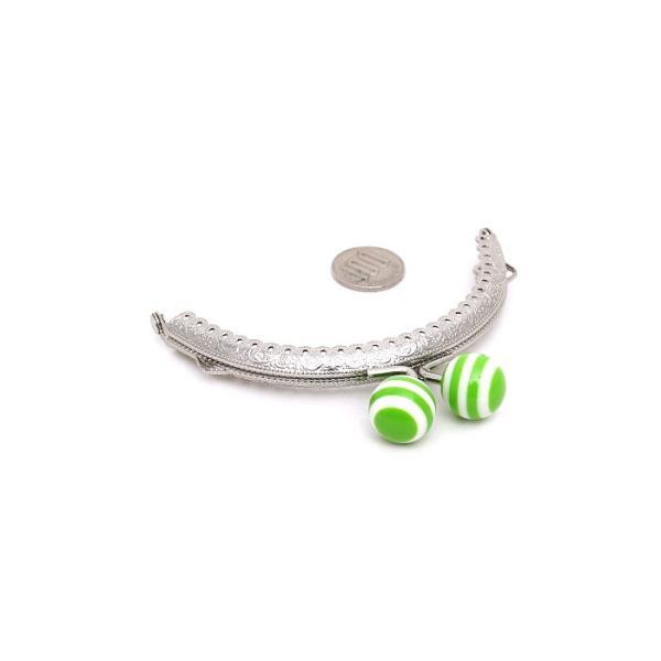 1353【全9色】ボーダーあめ玉(18mm)口金 10.5cm シルバー 丸型 がま口 縫い付けタイプ gamagutinoyumemall 02