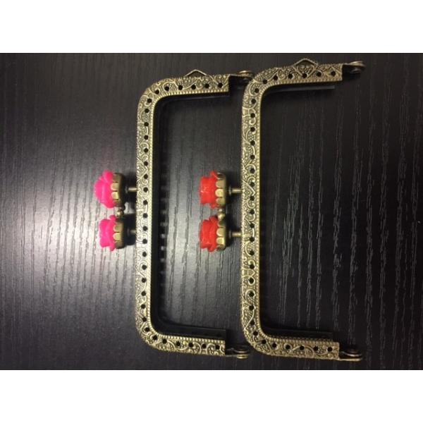 2431 がま口 口金 10.5cm 薔薇 角型 全5色 アンティークゴールド 縫い付けタイプ バラ|gamagutinoyumemall|05